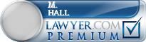 M. Scott Hall  Lawyer Badge