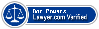 Don Marvin Powers  Lawyer Badge