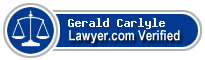 Gerald W. Carlyle  Lawyer Badge
