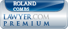 Roland Vincent Combs  Lawyer Badge