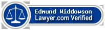 Edmund L Widdowson  Lawyer Badge