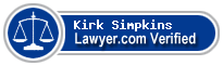 Kirk Gates Simpkins  Lawyer Badge