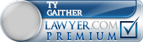 Ty Steven Gaither  Lawyer Badge