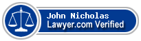 John Anthony Nicholas  Lawyer Badge