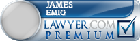 James Michael Emig  Lawyer Badge
