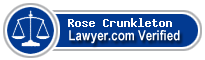Rose C Crunkleton  Lawyer Badge