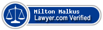 Milton Melanchton Malkus  Lawyer Badge