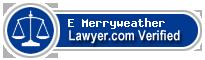E Thomas Merryweather  Lawyer Badge