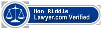 Hon Robert Bennett Riddle  Lawyer Badge
