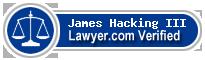 James Oliver Hacking III  Lawyer Badge