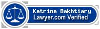 Katrine Homa Bakhtiary  Lawyer Badge