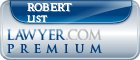 Robert F. List  Lawyer Badge