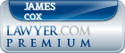 James T. Cox  Lawyer Badge