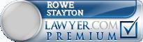 Rowe Stayton  Lawyer Badge
