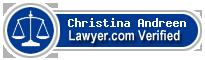Christina Margaret Andreen  Lawyer Badge