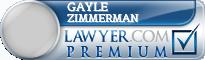 Gayle Zimmerman  Lawyer Badge