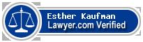 Esther V. Kaufman  Lawyer Badge