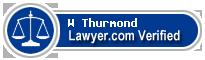 W E Thurmond  Lawyer Badge