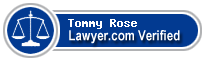 Tommy E Rose  Lawyer Badge