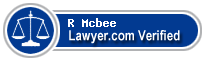 R Cunliffe Mcbee  Lawyer Badge