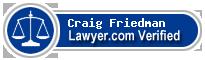 Craig Daniel Friedman  Lawyer Badge