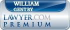 William Ernest Gentry  Lawyer Badge