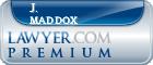 J. David Maddox  Lawyer Badge
