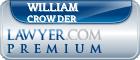 William Thomas Crowder  Lawyer Badge