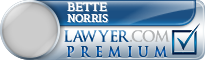 Bette Ruth Norris  Lawyer Badge