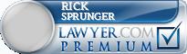 Rick Lynn Sprunger  Lawyer Badge