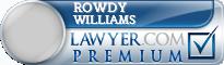 Rowdy Glen Williams  Lawyer Badge