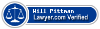 Will Ellis Pittman  Lawyer Badge