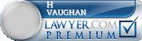H David Vaughan  Lawyer Badge