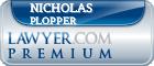 Nicholas Edwards Plopper  Lawyer Badge