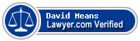 David B Means  Lawyer Badge