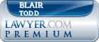 Blair Allen Todd  Lawyer Badge