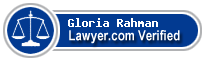 Gloria Jean Rahman  Lawyer Badge