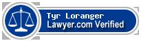 Tyr Loranger  Lawyer Badge