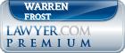 Warren F. Frost  Lawyer Badge