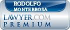 Rodolfo Sigifredo Monterrosa  Lawyer Badge
