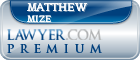 Matthew John Mize  Lawyer Badge