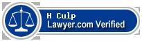 H Richmond Culp  Lawyer Badge