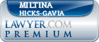 Miltina Ann Hicks-Gavia  Lawyer Badge
