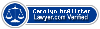Carolyn Ann Mcalister  Lawyer Badge