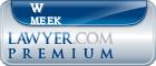 W Buchanan Meek  Lawyer Badge