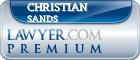Christian Earl Sands  Lawyer Badge