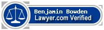 Benjamin U Bowden  Lawyer Badge