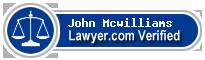 John H Mcwilliams  Lawyer Badge