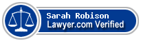 Sarah Grams Robison  Lawyer Badge