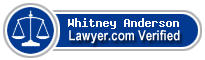 Whitney R. Anderson  Lawyer Badge